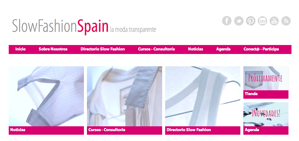Sitio web Slow Fashion Spain