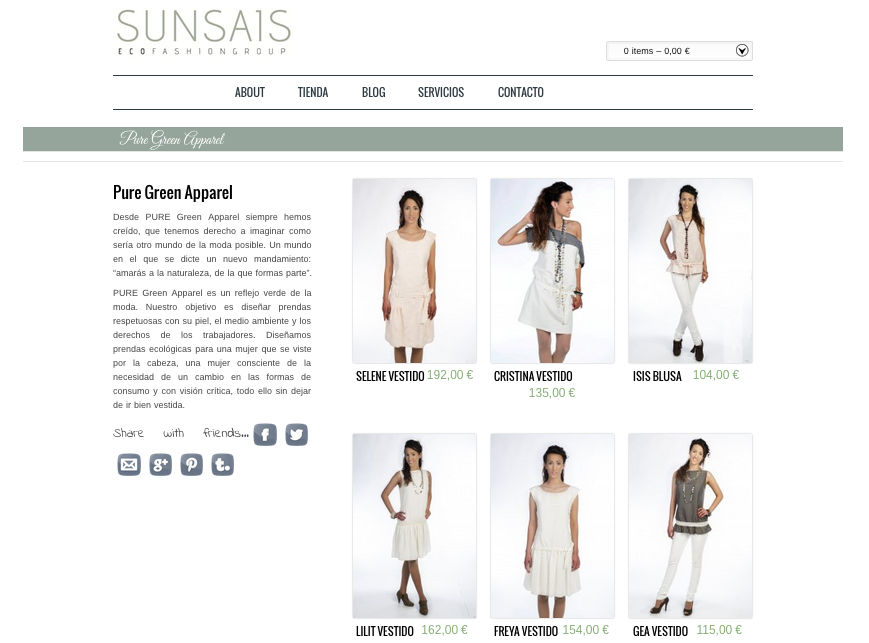 portal SUNSAIS PureGreen Apparel