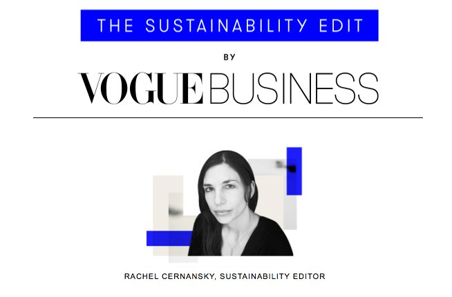 vogue sustainability fashion newsletter